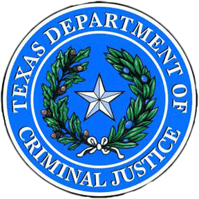 Texas Department of Criminal Justice Seal.